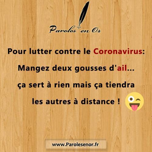 Pour lutter contre le Coronavirus: Mangez deux gousses d'ail...ça sert à rien mais ça tiendra les autres à distance !!