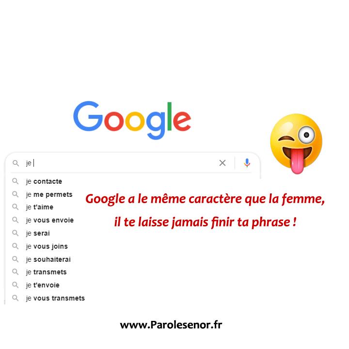 Google a le même caractère que la femme