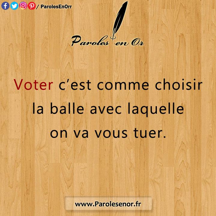 Voter c'est comme choisir la balle
