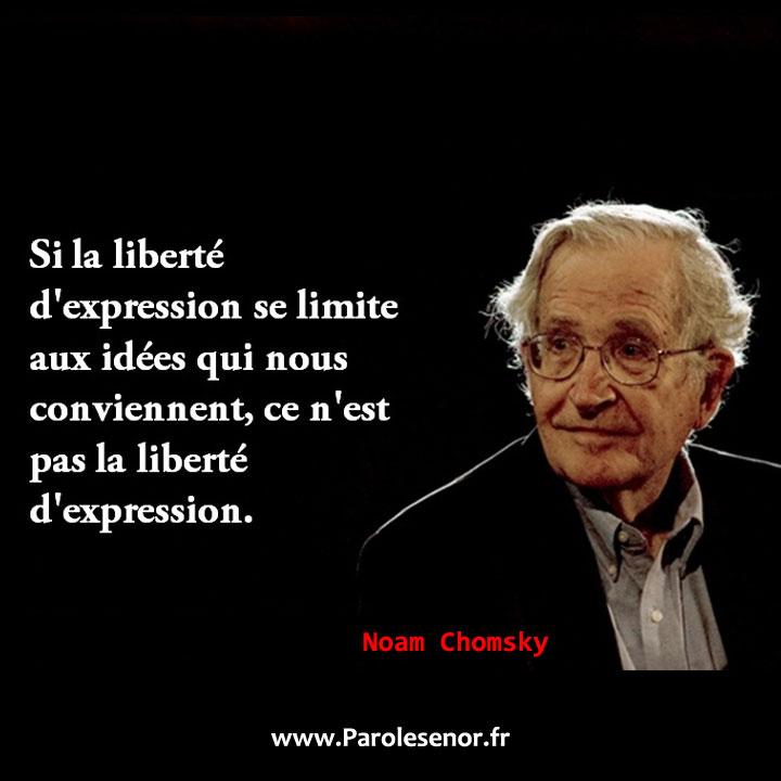 Si la liberté d'expression se limite aux idées qui nous conviennent, ce n'est pas la liberté d'expression