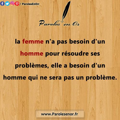 La femme n'a pas besoin d'un homme pour résoudre ses problèmes