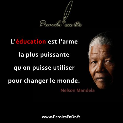 L'éducation est l'arme la plus puissante