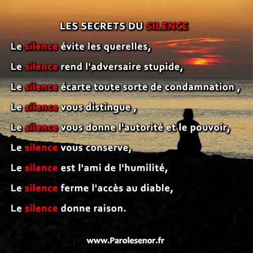 LES SECRETS DU SILENCE