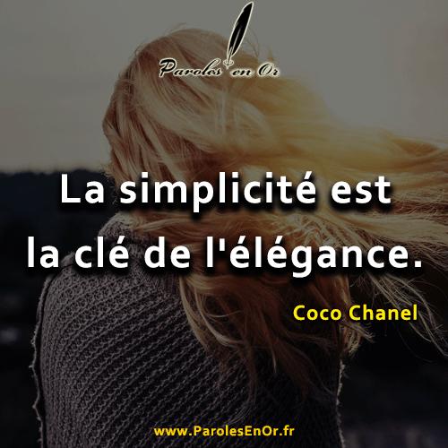 La simplicité est la clé de l'élégance