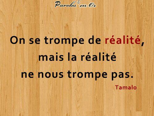 On se trompe de réalité mais la réalité ne nous trompe pas